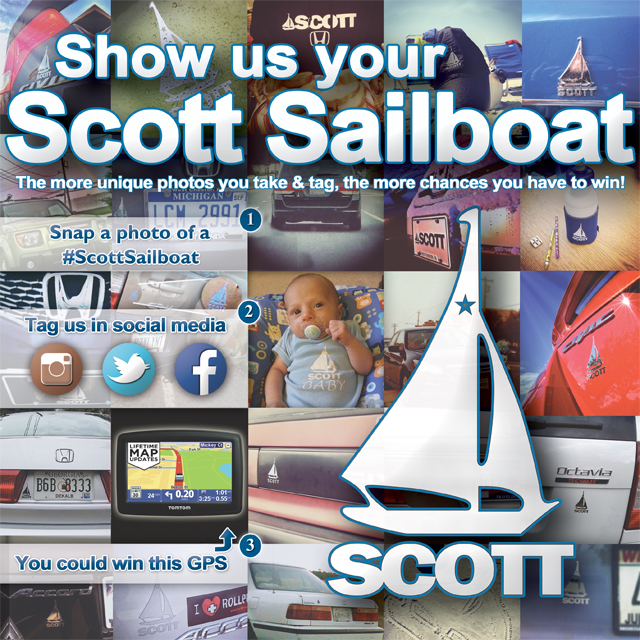 Show us your Scott Sailboat and your could win a GPS!