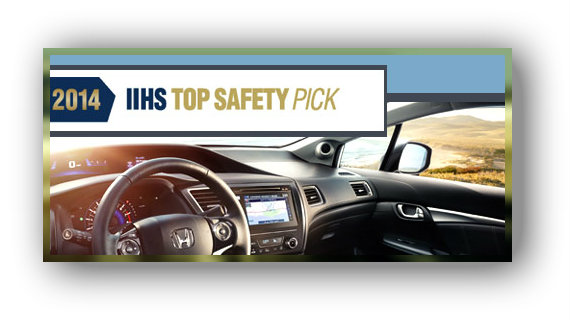 Honda received IIHS Top Safety Pick