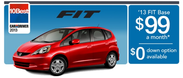Scott Honda // Offering special leasing on 2013 Fits