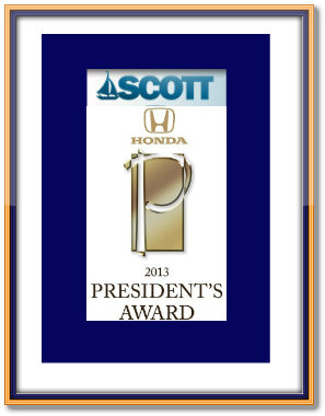 framed scott award